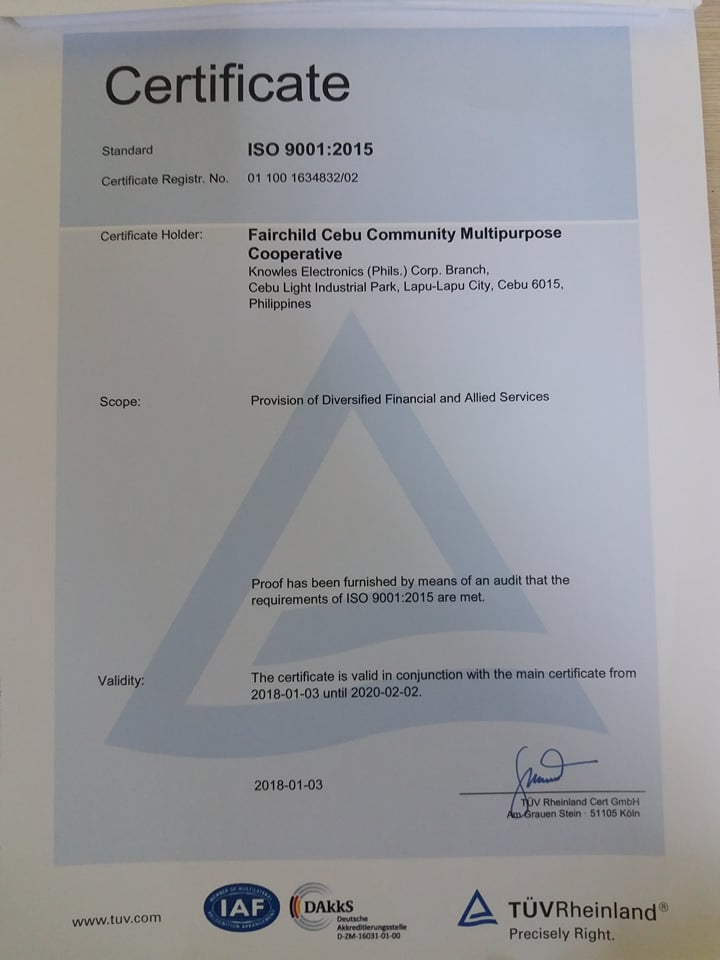 WE ARE ISO 9001:2015 CERTIFIED!!!
